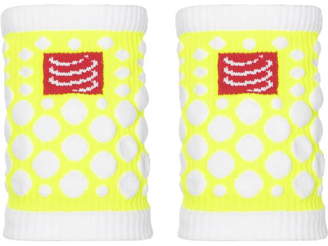 Compressport 3D Dots Manchettes, fluo yellow